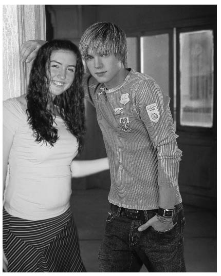 me and jesse black and white
